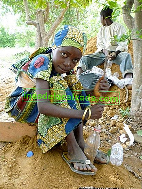 girl_preparing_pet_bottles_for_bricks